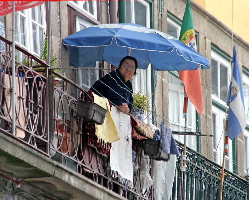Porto is a town of balconies