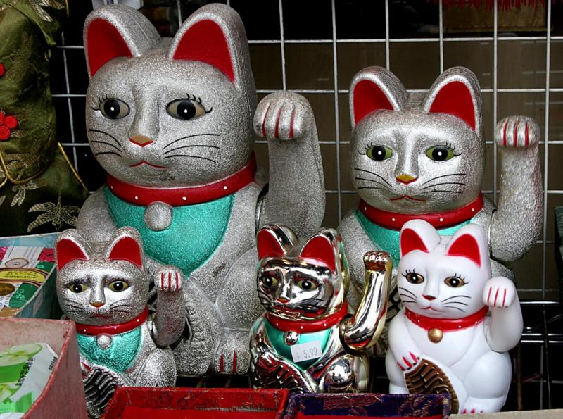 Lucky Chinese cats
