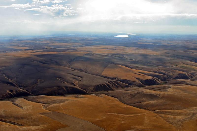 8 August - Sue flew to Yakima, Wa, then I flew around the area