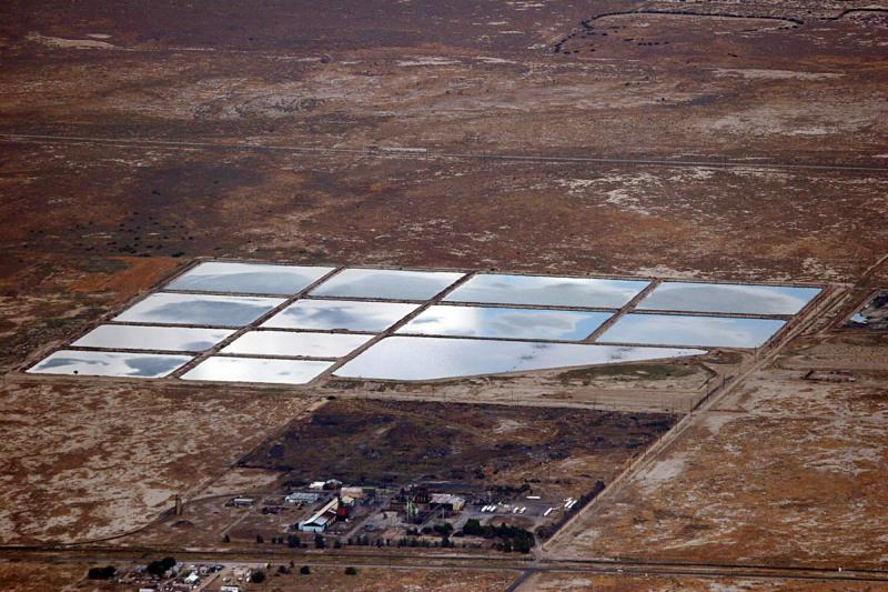 Reflections in salt pans