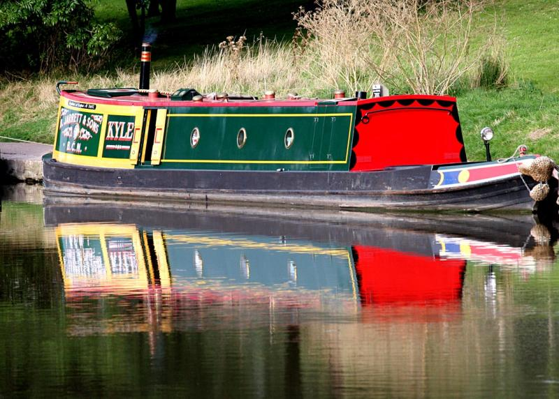 Barge on the canal