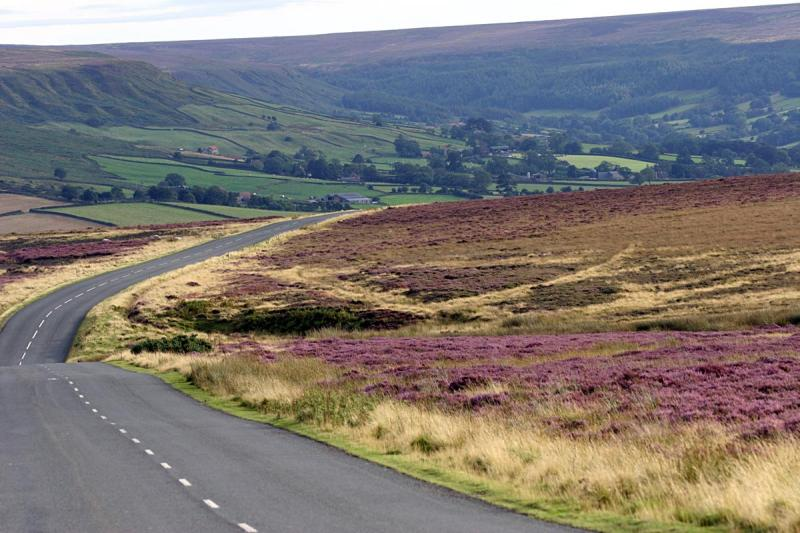 The road to Danby through the Moors