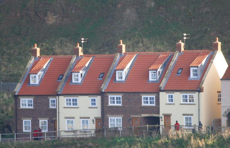 Houses against the cliffs