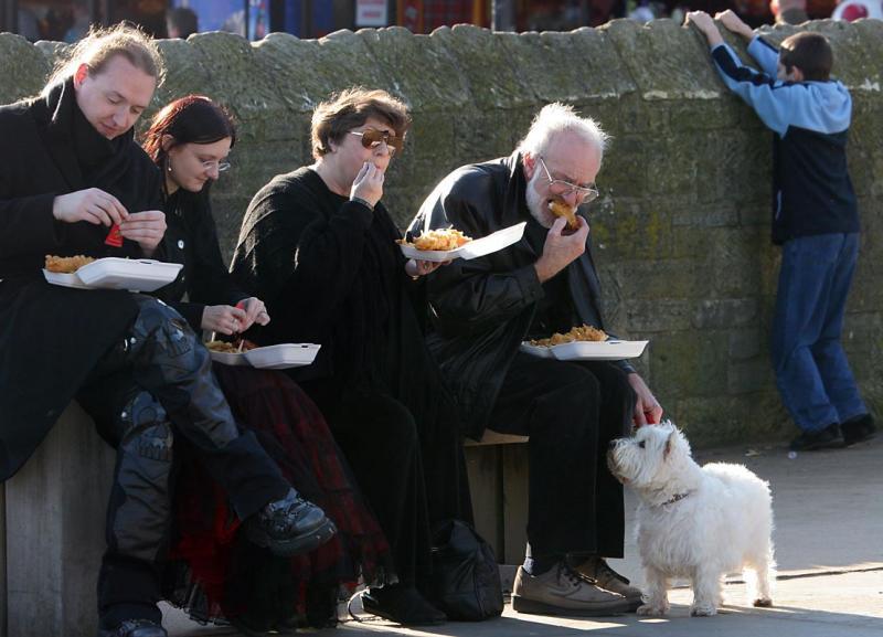 Non-Goth feeding frenzy