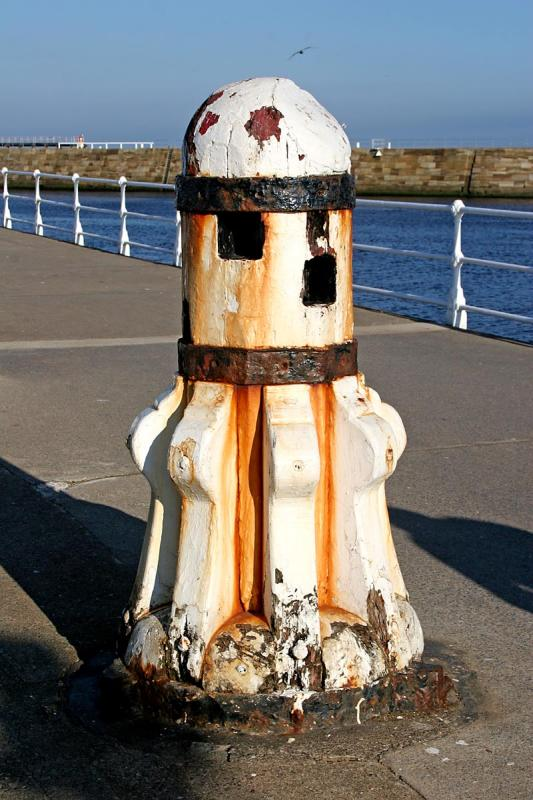 An old capstan on the pier