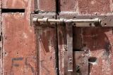 Old door in the port production region