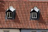 Red-tiled roof in Whitby