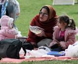 A family in Hyde Park on Sunday