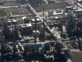 Backlit chemical plant