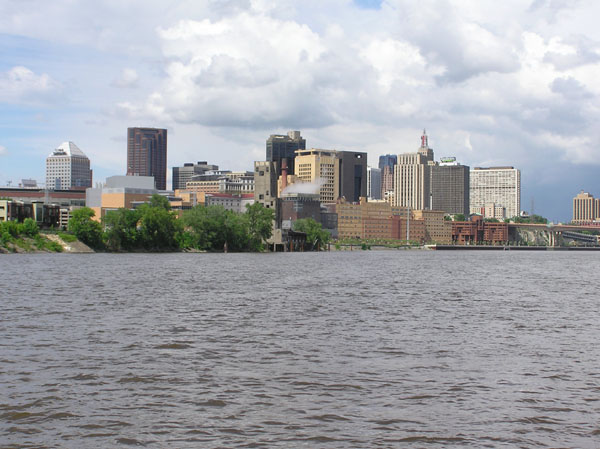 St. Paul across the Mississippi River