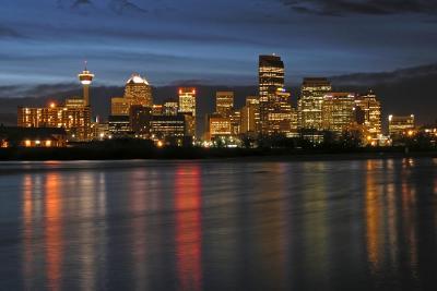 Bow River Night Lights