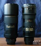 300mm vs. 70-200mm  w/o Hoods
