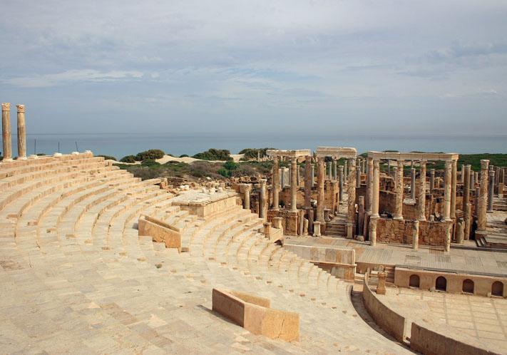 Le Théatre de Leptis Magna ( Lybie)