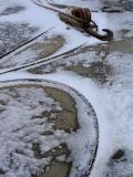 les amarres dans la neige