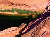 glenn canyon ,vue plongeante
