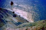 plongée de la falaise