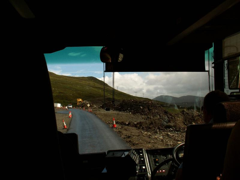 on the bus to Steornabhagh