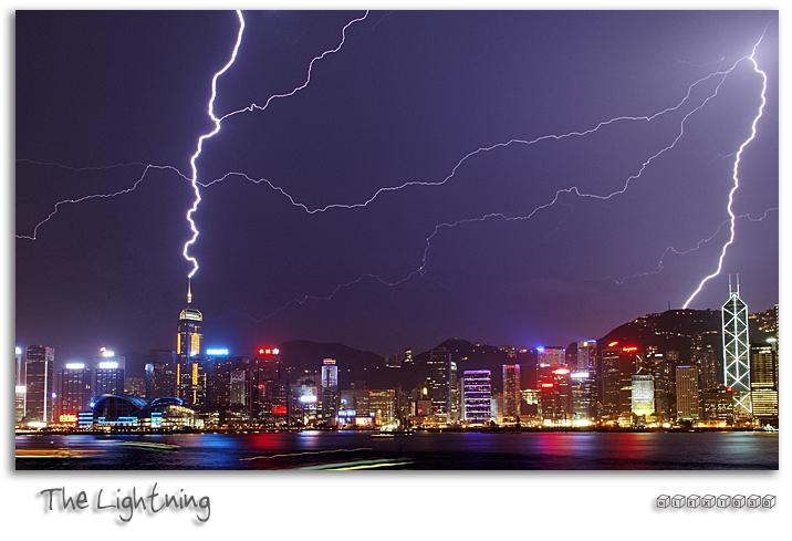 Lightning spectacular above victoria harbour