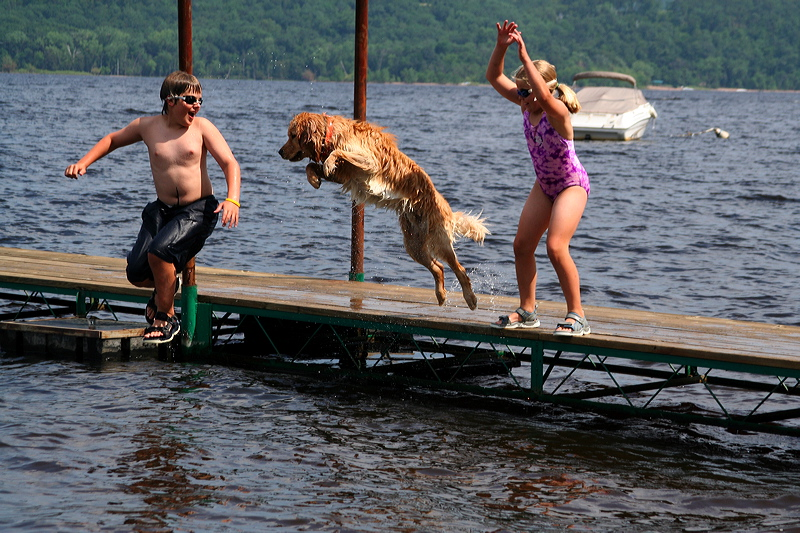 Air Dog - Jumping off the Dock