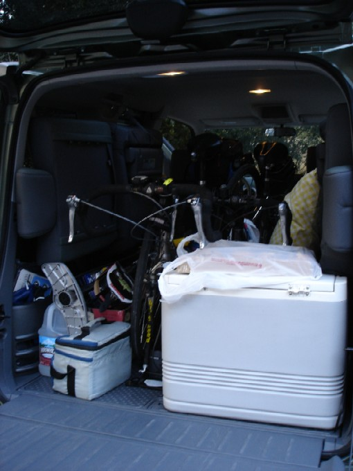 We packed the Toaster (the nickname for our Honda Element).