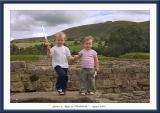 James and Maya at  Vindolanda