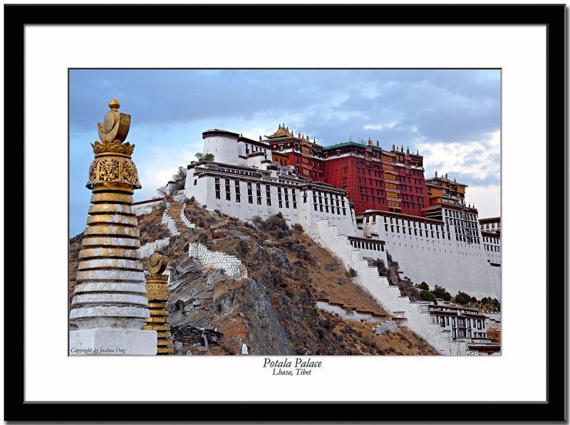 Potala with stupa at dusk