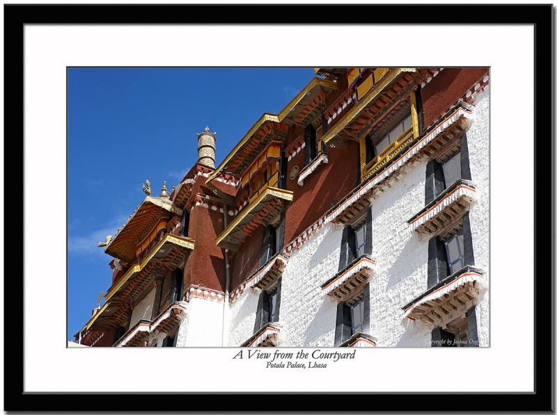 Potala Palace - A view from the courtyard