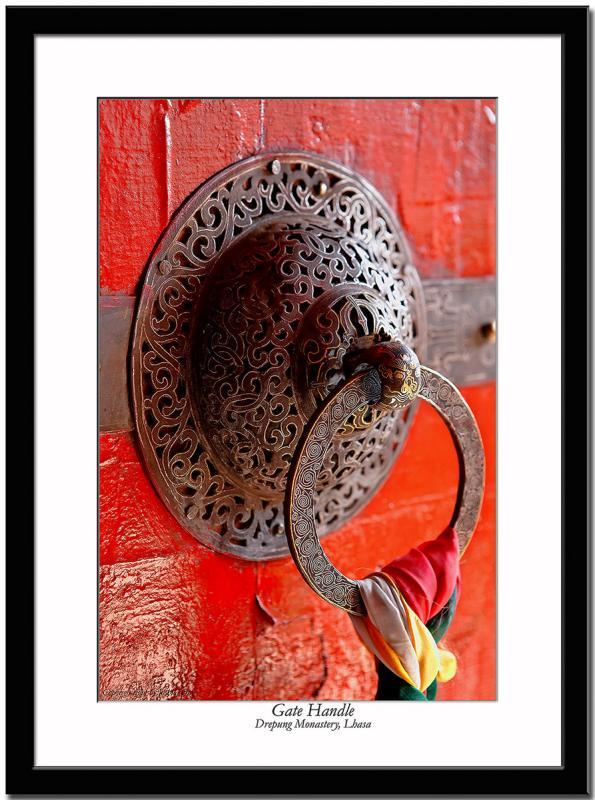 Door/Gate handle at Drepung