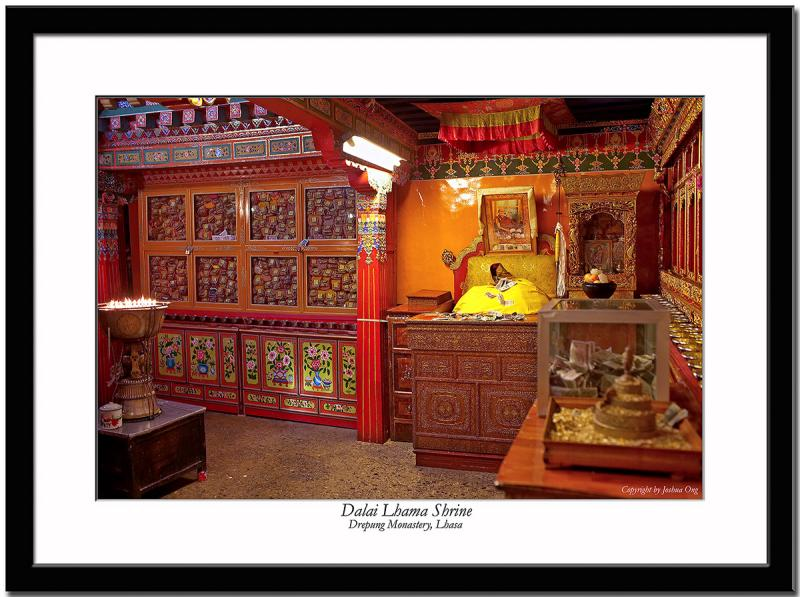 A shrine of one of the Dalai Lamas