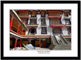 Inside the courtyard of Drepung