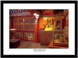 A shrine of one of the Dalai Lamas