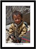 A young Tibetan boy