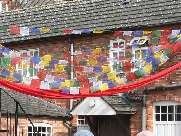 Courtyard Prayer Flags
