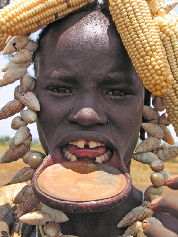 Corn on the head