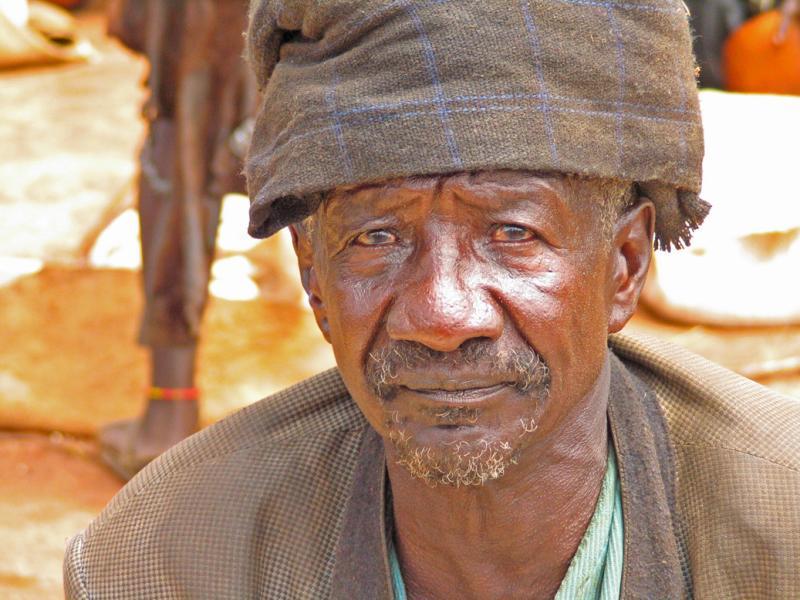 Old man at Key Afar market