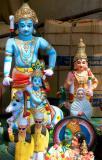 sidewalk gods, pondicherry