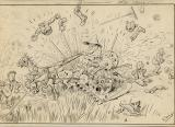 Original artwork; caption on rear reads, 30th Sept. 1831 -- First mowing used in United States