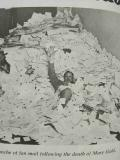 A photo of Smith buried under a veritable avalanche of fan mail following the death of his character Mary Gold