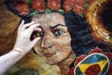 Landour rock painting, Landour, India (2002)