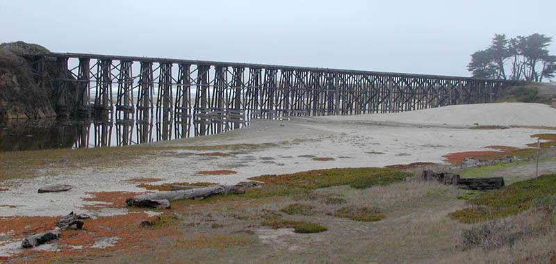 Beach rail bridge