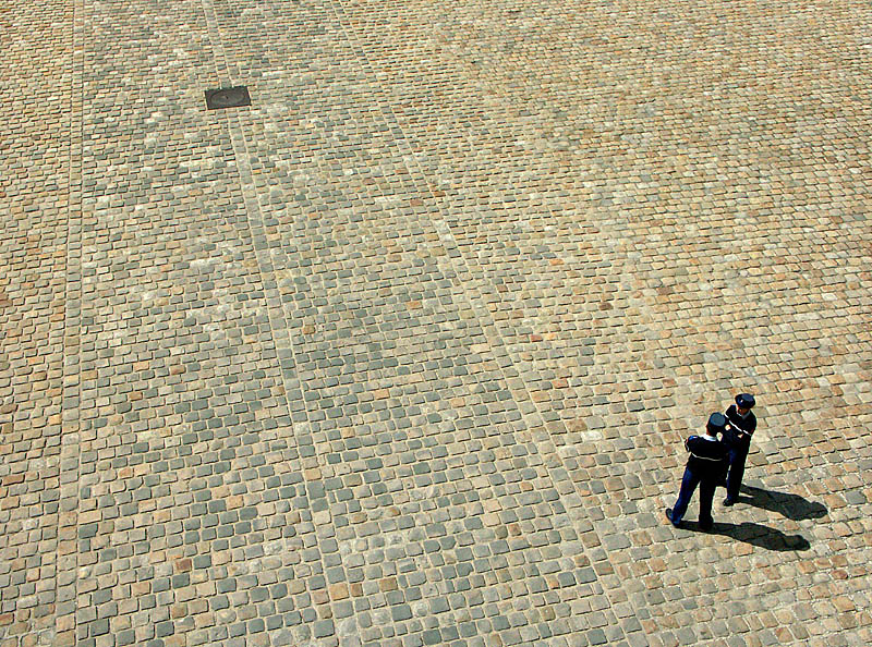 Police in a courtyard of Les Invalides