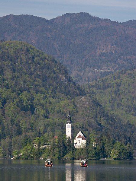 Gondolas on Lake Bled