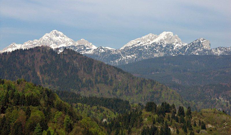 Mt Triglav, from Bled Castle