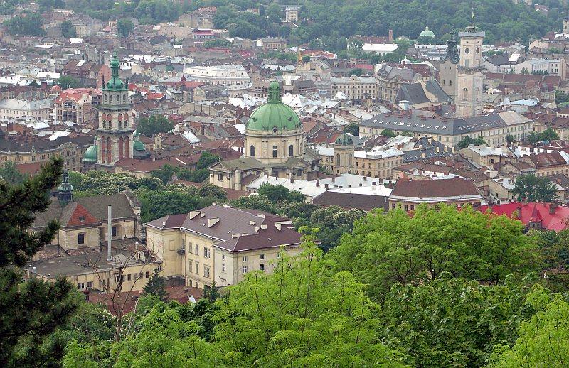 View from Vysoki Zamok