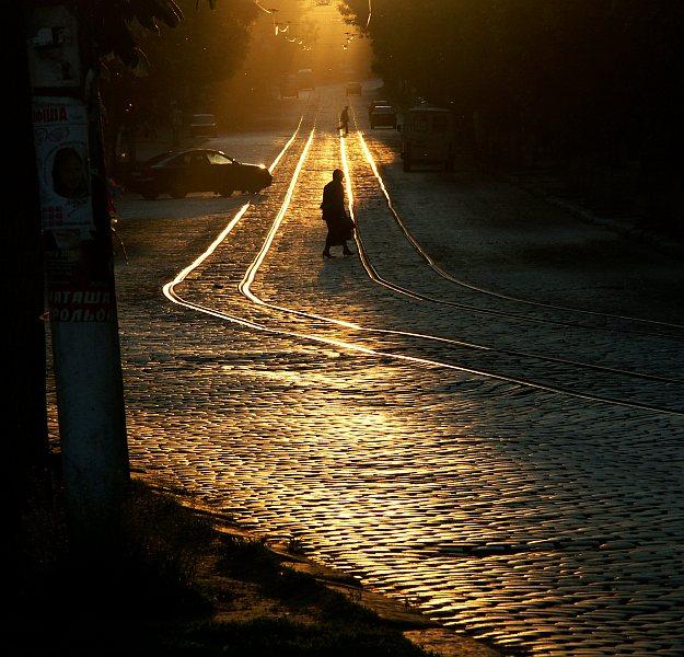 Late evening tramlines