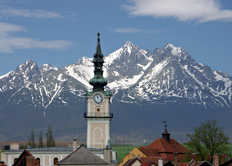 Kežmarok - Town Hall annd High Tatras