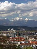 Looking north from Ljubljana