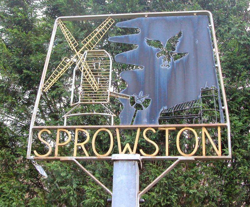 Sprowston Village sign