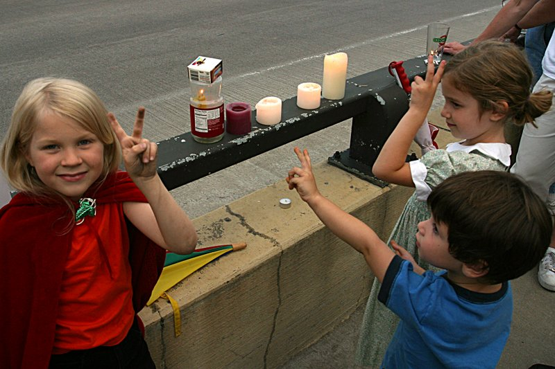 Children with Candles (and dirty hands)