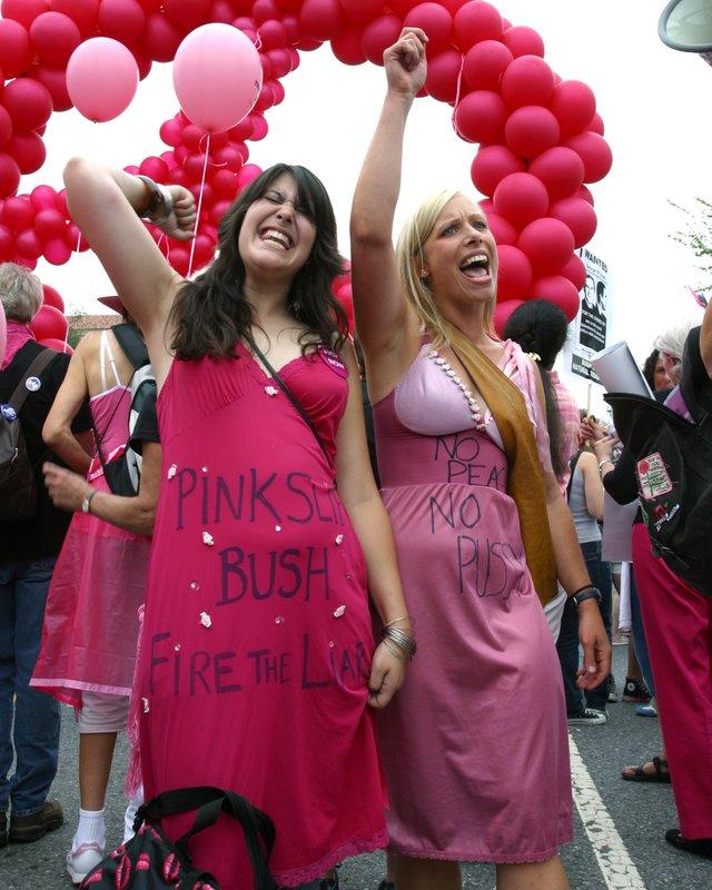 Code Pink Pink Slip Bush the liar